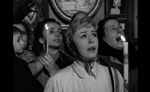 Cabiria reaches up to find her soul's release.